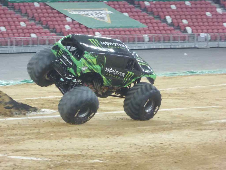 Monster energy holding a 2 two-wheeler in the 2 wheel challenge