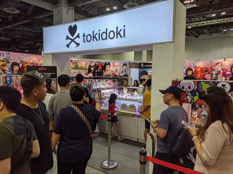 Tokidoki is strangely always a hot favorite, the booth is always packed with snaking queues