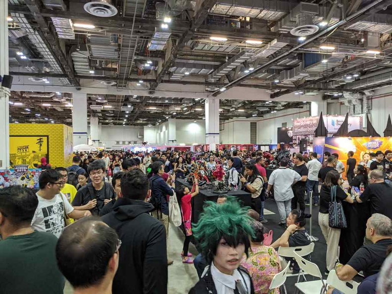 The Singapore Comic Con vast ground floor of the Sand Convention center, Singapore