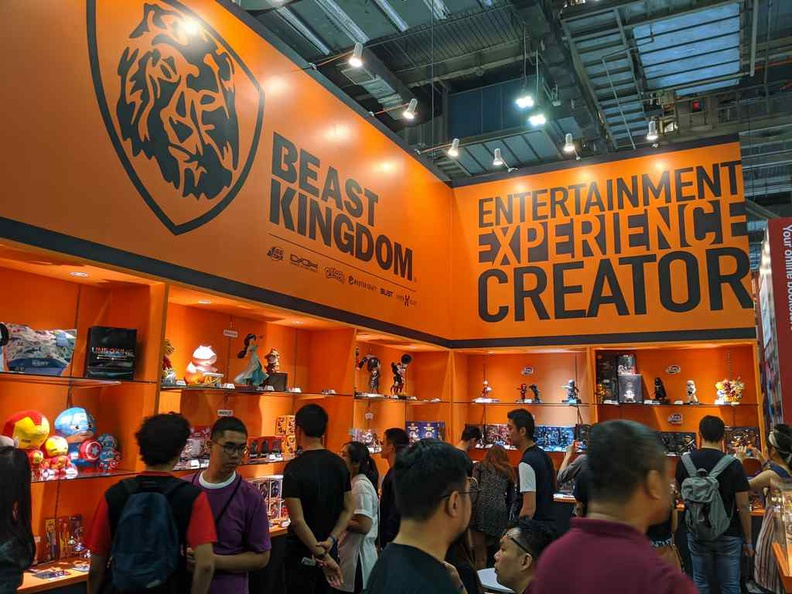 Taiwanese Beast Kingdom booth, releases this year however are quite muted