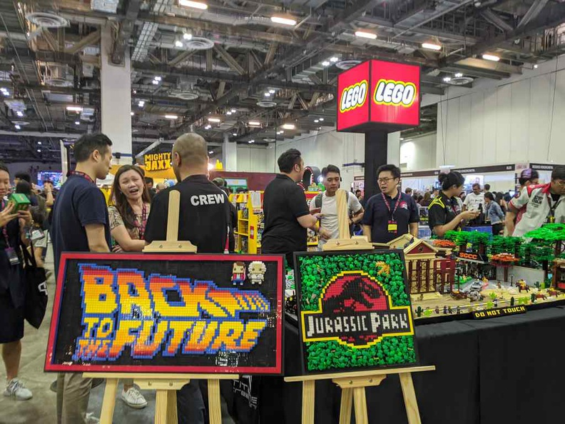 The Lego Booth, it is a favorite for kids and bargain hunters alike