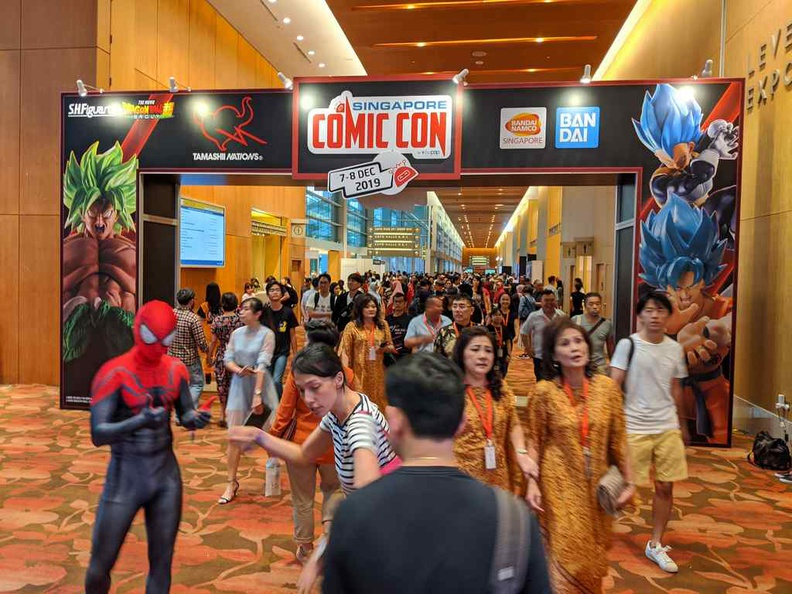 Singapore Comic Con. Here we are at the Sands Expo and Convention center again!