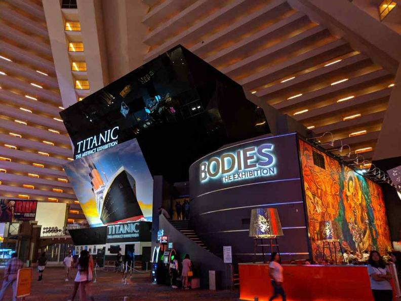 There are a mix of permanent Museums attractions, like Titanic and Bodies worlds brought in by the MGM group