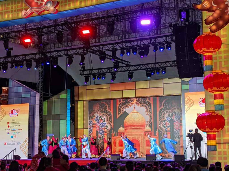 The even does daily shows comprising of Chinese dances, martial arts showcases and musical performances, and is open to all