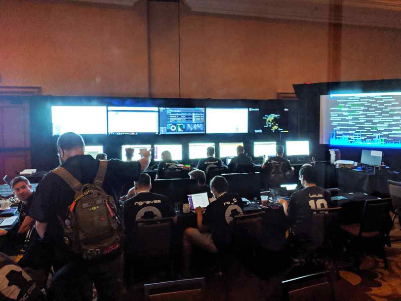 Blackhat Network Operations Center (NOC), where all the magic happens and one of the best demonstrations of DevSecOps