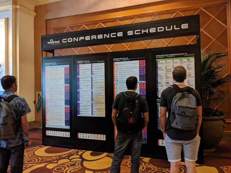 Check Blackhat USA online for the latest schedules as print schedules may not be updated as timely.
