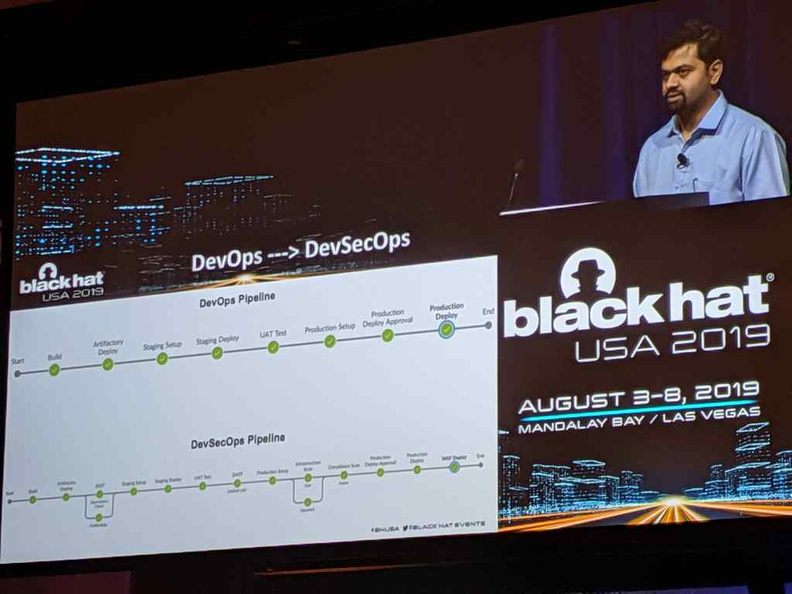 Introducing the DevSecOps pipeline at Blackhat USA which breaks from traditional software development agile methods.