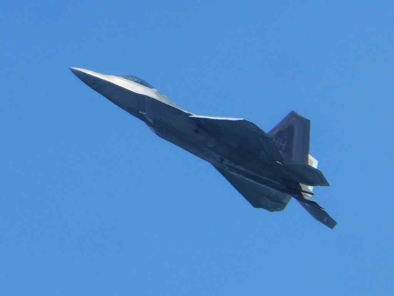 The F22 performance is one of the highlights, showcasing the capabilities of possibly the most most advanced 5th generation air-superiority fighter.