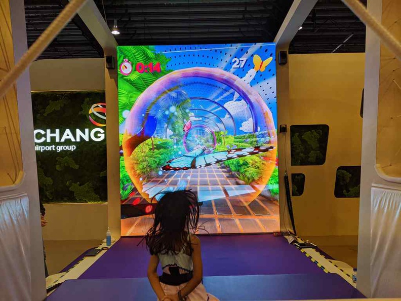 Changi group trampoline was a hit with kids and adults alike.