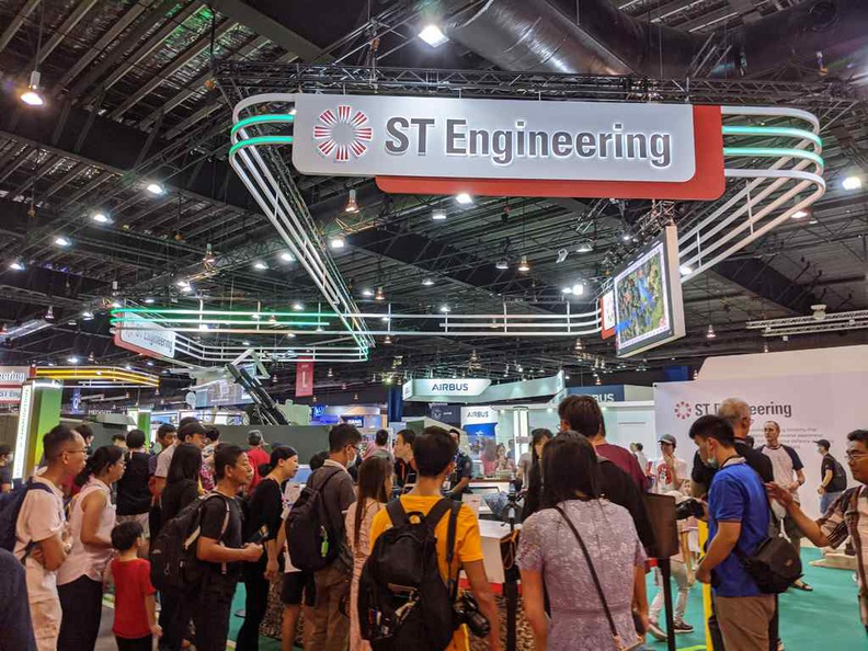 ST engineering booths where most of the crowds are on public days.