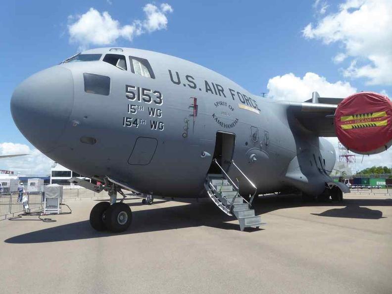 USAF C-17 Globemaster at the Singapore Airshow 2020