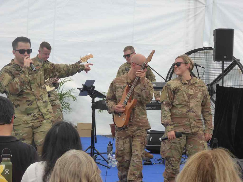 US Airforce Music band of the Pacific rocking tunes out at the Marquee tent