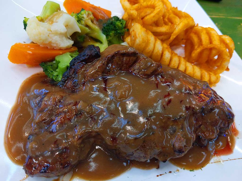 At $11, Chefs place western safra Prime Sirloin steak was a delightful surprise. It does have quality rivaling some places easily serving this at twice the price.