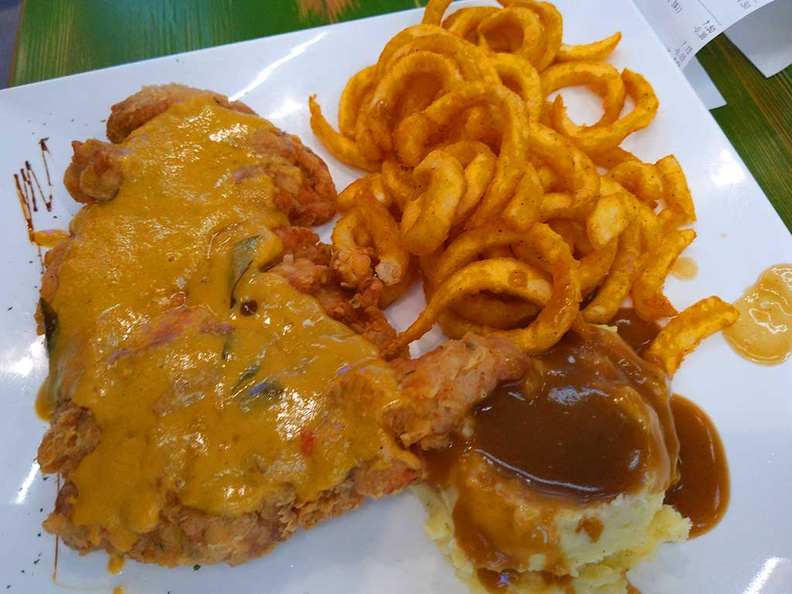 Chefs place western safra fried chicken cutlet with salted egg yolk sauce
