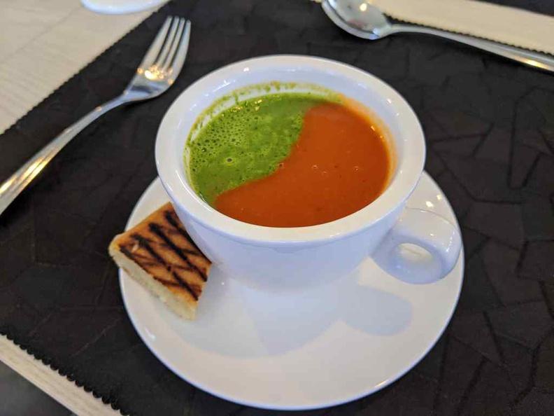 Lorez Restaurant Nanyang Polytechnic Appetizer Roasted Tomato soup