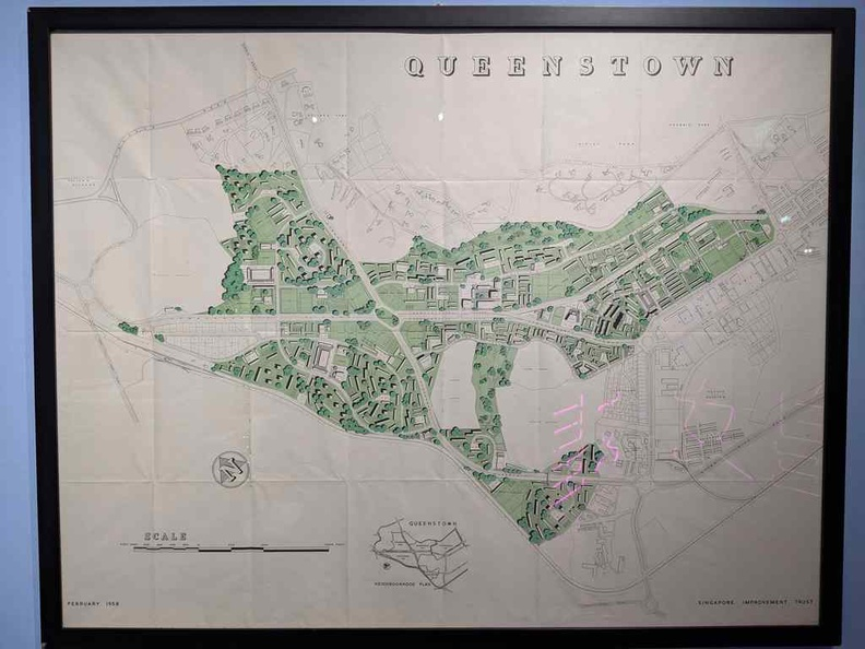 Early map of Queenstown in the 1958