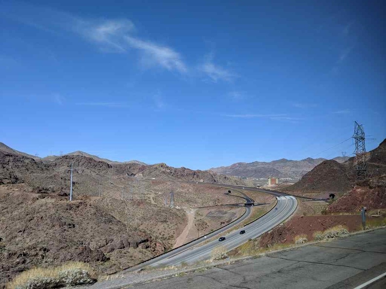 The interstate through Boulder City and into Arizona, where the Grand Canyon west reside out of the state of Nevada.