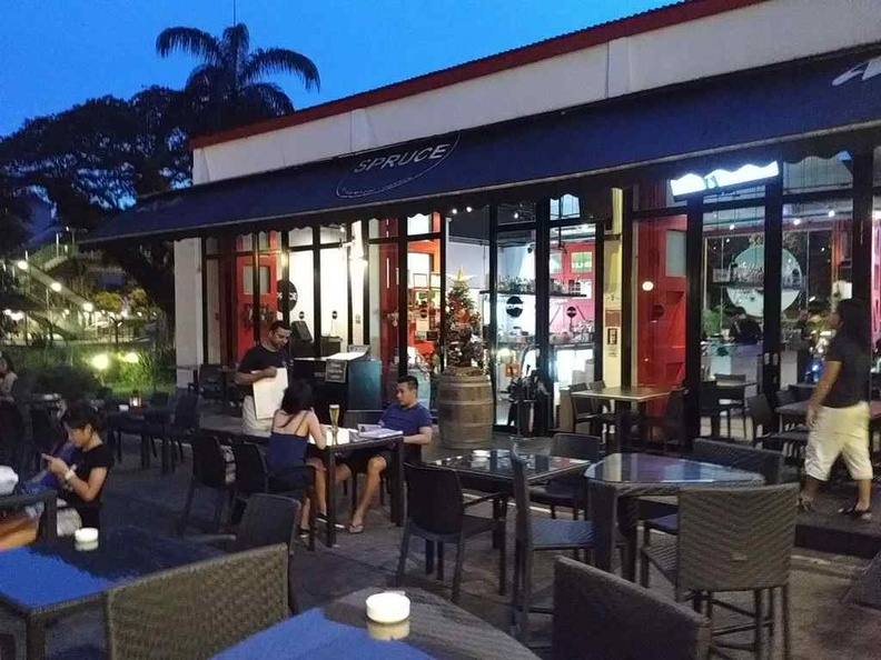 Spruce Bukit Timah outdoor seating at an old Fire station