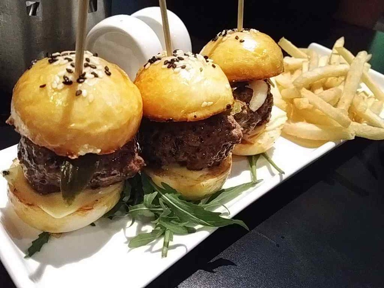 Mini burgers great for sharing