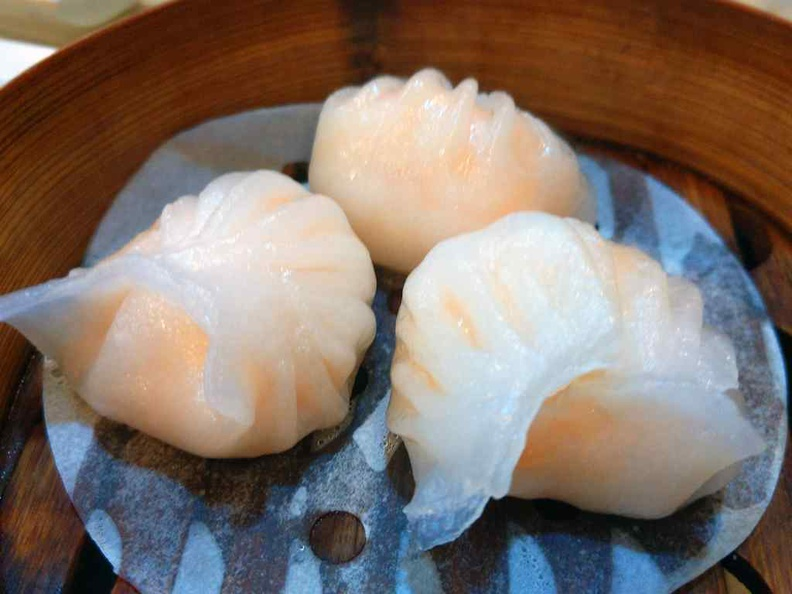 Steam Xiao long bao, 3 pieces in a basket at $4.20. It is a recommended staple to have here at DIm Sum Haus