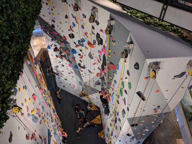Funan notably has several lifestyle elements such as a sport climbing wall and a cinema. Tad a stray from what the IT mall it was