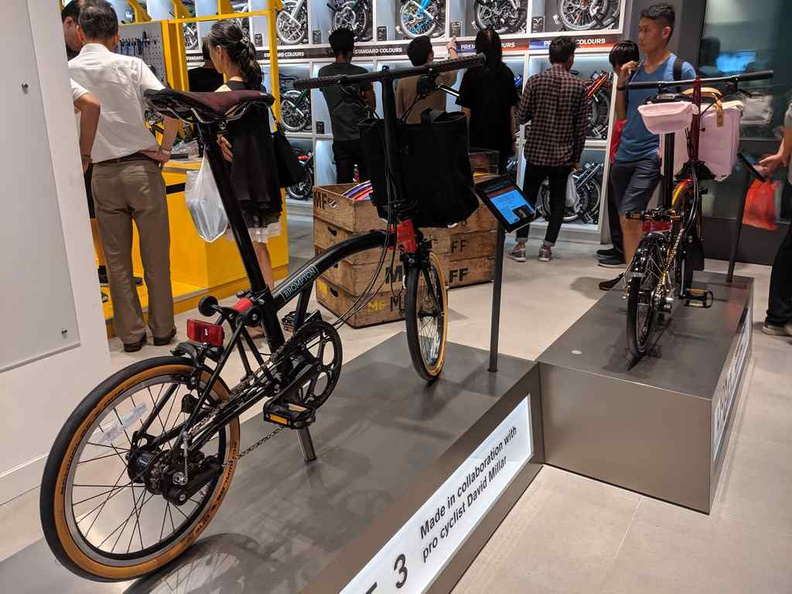 Brompton store, though its tad odd for bikes to be sold in an IT mall