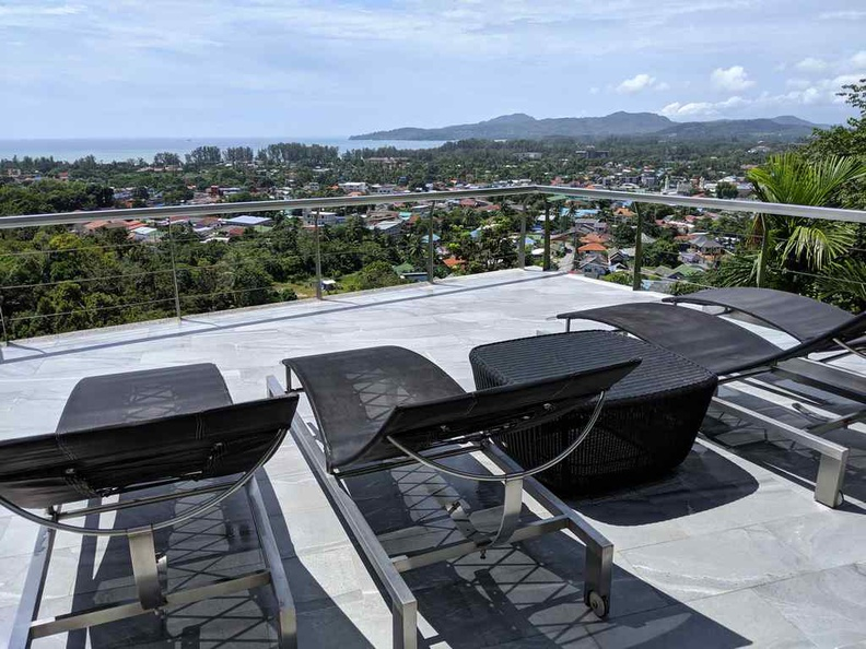 Rooftop top tanning deck area