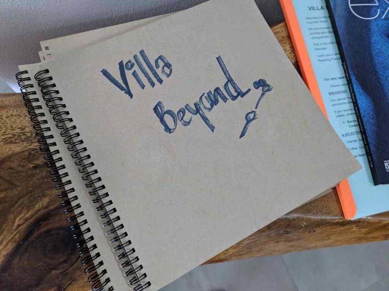 The villa guestbook