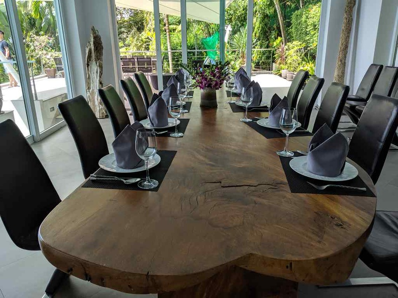 The dining table can seat 10 easily at a go