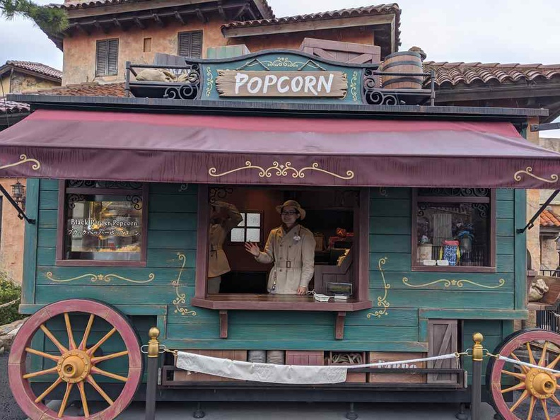 One of the many Crazy popcorn stands here. Popcorn in Japan Disney parks is part of the Disney experience