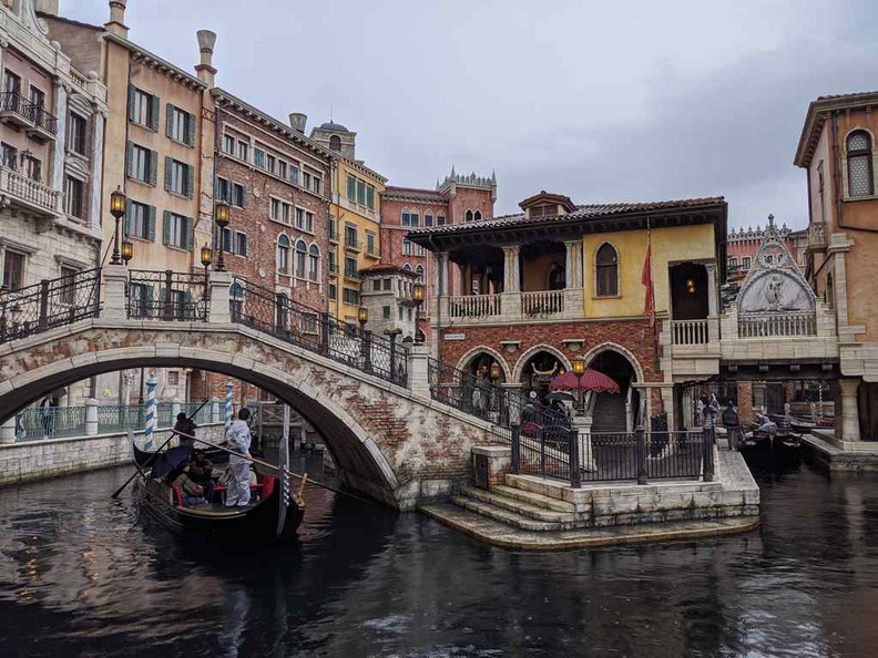 Waterfront with the Venice section and Venetian gondola ride