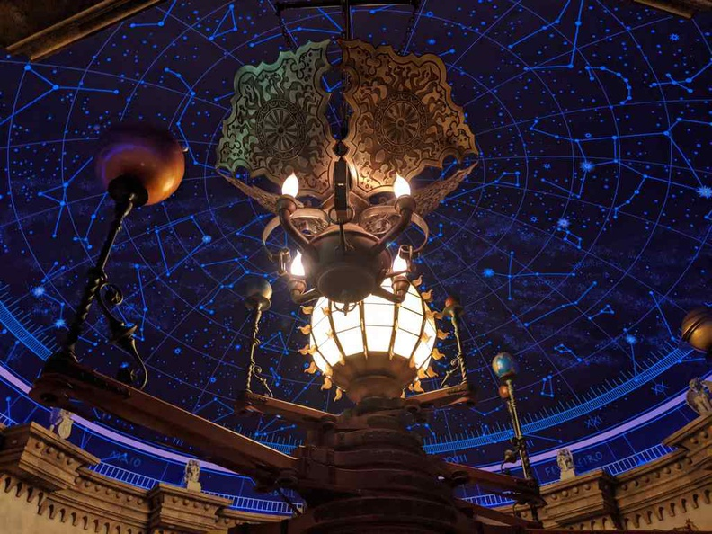 Inside the fortress mystical starry sky room