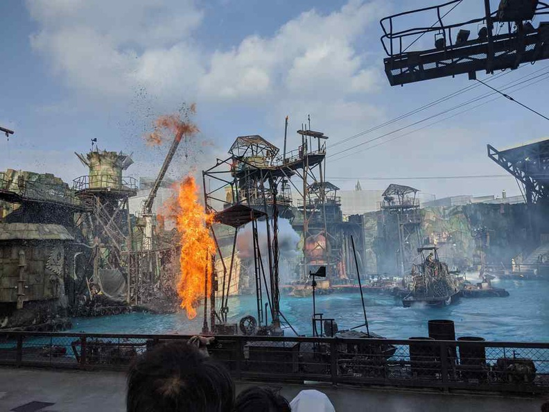 Water World Live performance. It is tad a carbon copy of the Waterworld performance you see around the world, like Universal Singapore