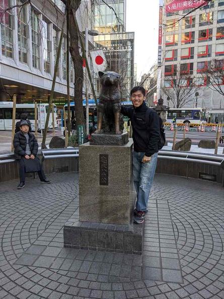 Hachiko Memorial Statue by Shibuya Tokyo metro station