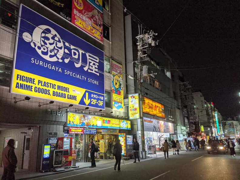 Hobby shops and anime goods stores at the Nippombashi Denden Town
