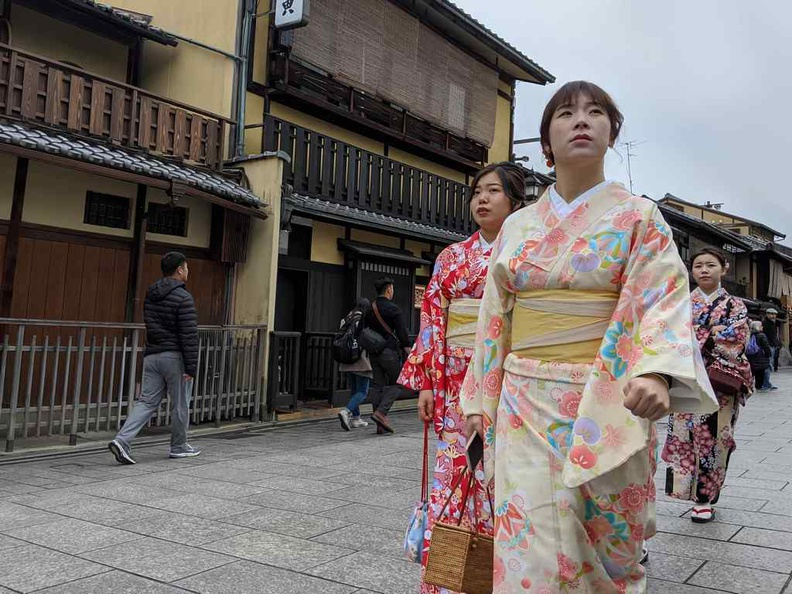 Geishas are a common sight in Tokyo, though most are tourists