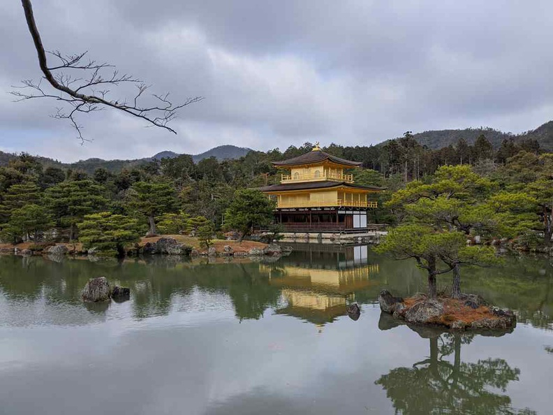 The Golden pavilion is small temple shrine spot with an eye-catching unique pavilion
