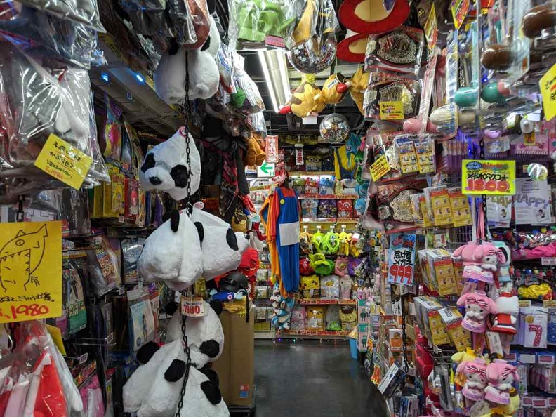 Yep in typical Don Quijote style, stores are still packed with stuff all over