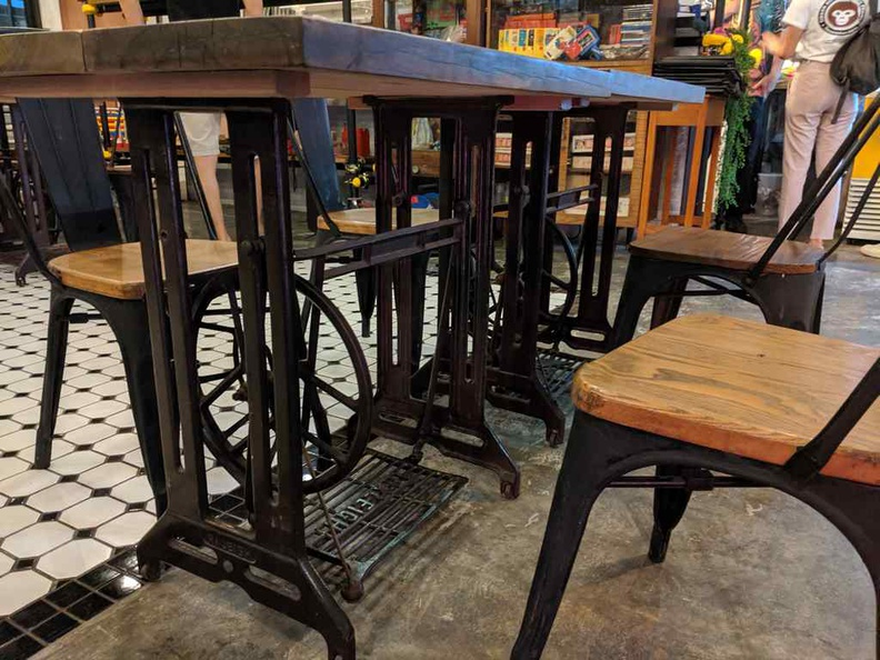 Cool antique sewing machine tables