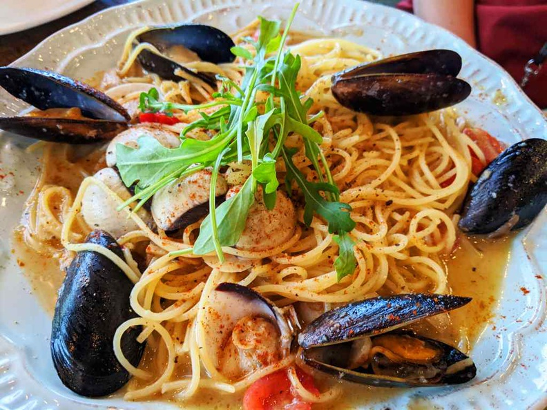 Tom Yum seafood pasta $18.90