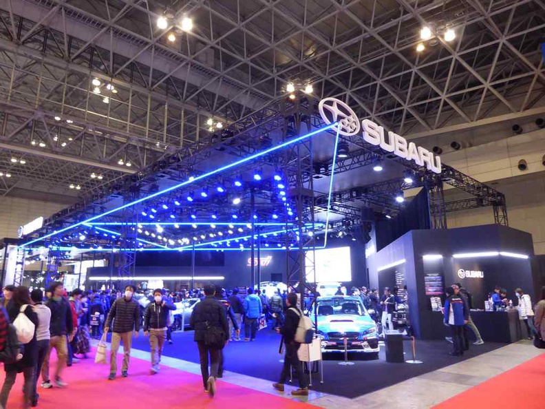 One of the several large major Automakers showcase booths in the Auto Salon
