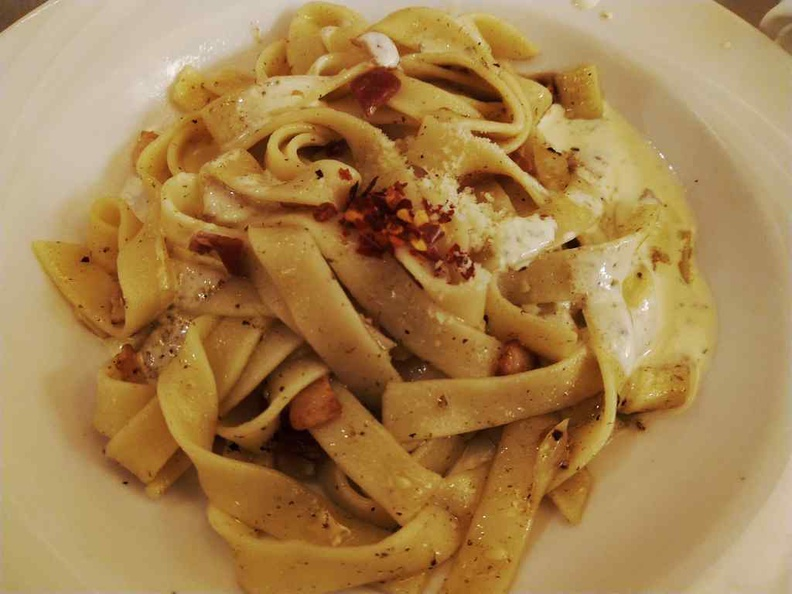 Fettuccine pasta cooked to your specifications