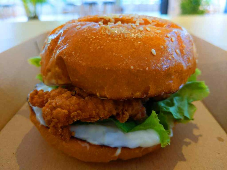 Hot chick burger ($7), a fried chicken burger