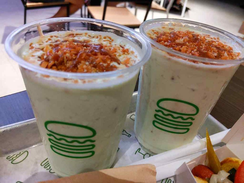 Shake Shack's Singapore Exclusive Pandan Shakes. It has an acquired taste and probably not great for seconds