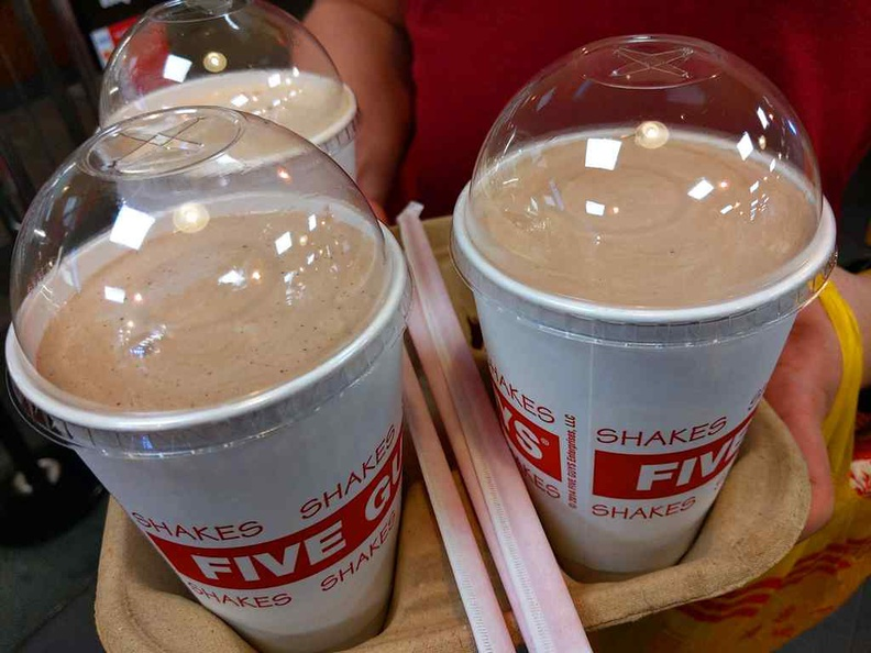 Five Guys milkshakes are one of the best selling points of the establishment